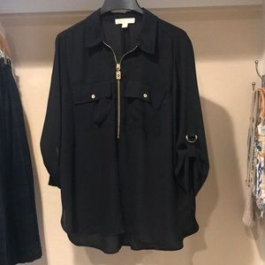 Michael Kors gold accent blouse XL